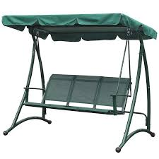 greenfingers tuscany 3 seater garden swing seat on fast