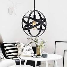 KingSo <b>Industrial Metal Pendant Light</b>, Spherical <b>Pendant Light</b> ...