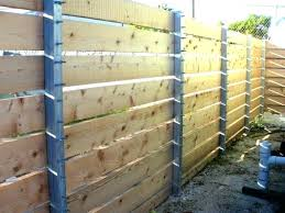 horizontal wood fence with metal posts. Plain Horizontal Horizontal Wood And Metal Fence With Posts Attractive  Project Gallery Co   On Horizontal Wood Fence With Metal Posts N