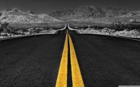 long desert road black and white hd desktop wallpaper  high