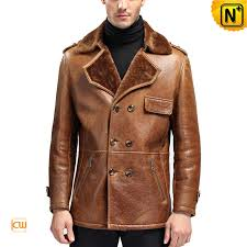 sheepskin leather jacket cw868091 cwmalls com