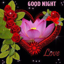 Good Night With Flowers Good Night Love Heart Graphic Good Morning Adorable Beautiful Flowers With Love Quotes