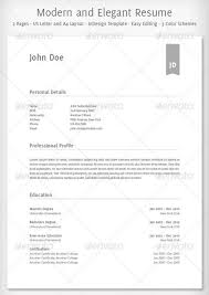 20 Awesome Resume Cv Templates Mow Design Graphic Design