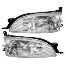 Details About Fits Toyota Camry 95 96 Set Of Headlamps Lens W Housing Headlight Assembly