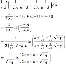 Quadratic Integral From Wolfram Mathworld
