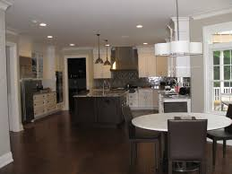 Lighting Options For Kitchens Black Wooden Kitchen Flooring Ideas With Drum Shape Chandeliers