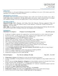 Automotive Test Engineer Sample Resume 16 Amazing Vehicle