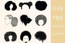 natural curly hair afro hair clipart