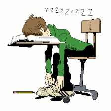 student asleep at desk