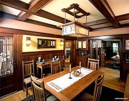 Craftsman style homes interior Big Craftsman Interior With Typical Dark Stained Woodwork Board And Batten Wainscoting Missionstyle Riverbend Home Decorating Ideas For Craftsman Style Homes Riverbend Home