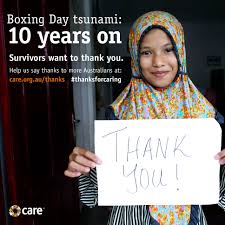 Today marks 14 years since the catastrophic boxing day tsunami, which killed 230,000 people. Thanks For Supporting The Boxing Day Tsunami Care Australia