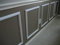 image of vinyl wainscoting frame at wall