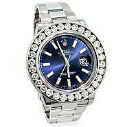 smart mens rolex oyster date swiss watch rolex mens rolex datejust custom diamond watch 7 5ct