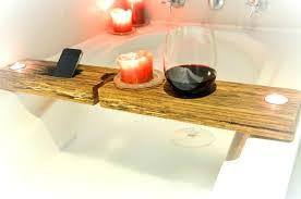 bathtub caddy wood bathtub wood wine holder over the tub bath wooden bath caddy white bathtub caddy