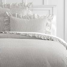 the emily meritt ruffle stripe duvet cover sham