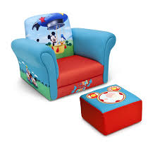 com delta children upholstered chair with ottoman disney mickey mouse baby