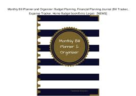 Monthly Bill Budget Monthly Bill Planner And Organizer Budget Planning Financial Planni