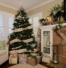 Of Living Rooms Decorated For Christmas Living Room Modern Christmas Living Room Decoration With White