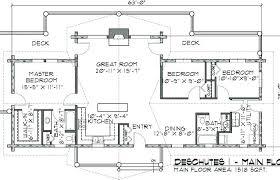 one story log house floor plan 2 cabin plans full size
