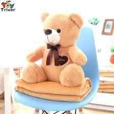 kids bear rug plush teddy portable blanket toy doll baby shower car travel floor show
