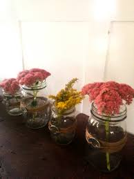 Mason Jars Decorated With Twine Quick DIY Mason Jars And Twine Fall Centerpieces 33
