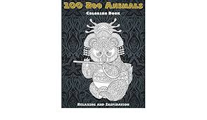 Amazon.com: 100 Zoo Animals - Coloring Book - Relaxing and ...