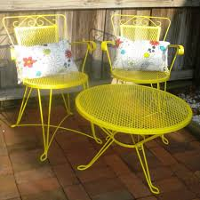 yellow patio furniture. Yellow Metal Outdoor Chairs New Patio Furniture L Nyke Pictures