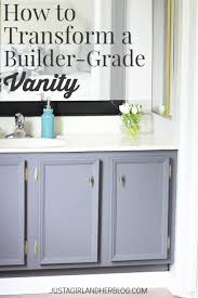 how to transform a builder grade vanity