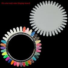 Details About 36 Colors Round Nail Polish Gel Color Palette Chart Display Art Tip Fake Palettc