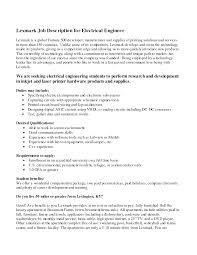 Electrician Job Description For Resume Free Resumes Tips