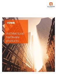 Ives Hardware Finish Chart Ives Architectural Hardware Products Catalog Manualzz Com