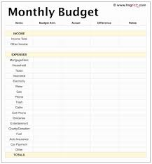 30 Awesome Simple Budget Template Printable Pics Awesome Template