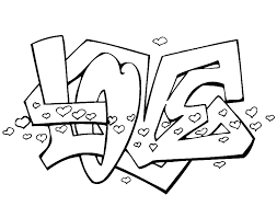 Afbeeldingsresultaat Voor Graffiti Love Kleurplaat Leters