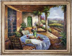 italian cafe florence view patio dining x l painting