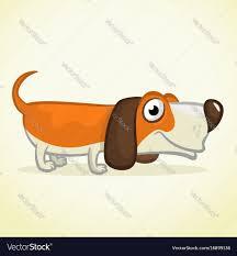 Cute basset hound dog cartoon Royalty ...