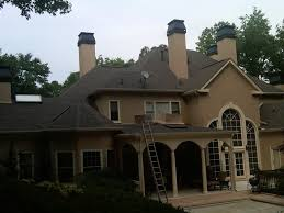 decorative chimney shroud update in country club of the south traditional exterior