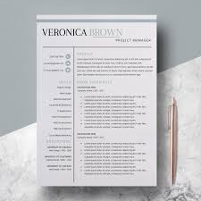 Modern Resume Downloads Resume Instant Download Resume Templates Creative Resume Design