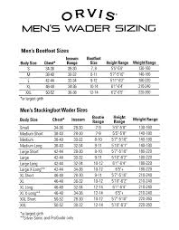 Lacrosse Waders Size Chart Complete Game Winner Waders Size Chart 2019