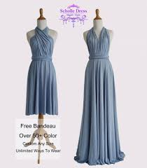 Infinity Dress Pattern Fascinating Steel Blue Bridesmaid Dresses Gown Convertible Dress Infinity