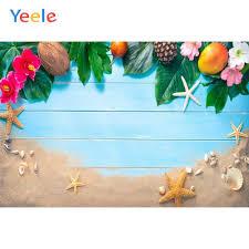 <b>Yeele Photozone</b> Tropical Leaves Beach Shell Summer ...