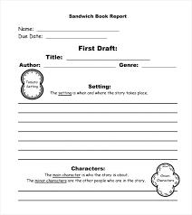 Sandwich Book Report Template Choice Image Template Design Ideas ...