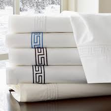 scroll to previous item chambers italian greek key embroidered duvet cover full queen black