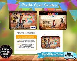 Credit Card Party Invitations Credit Card Invite Etsy