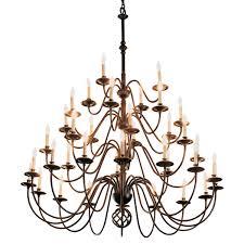 detail ball basket 36 arm chandelier