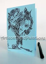 painting post cards hand painted ooak birthday card thank you card paper love