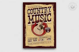 wanted photoshop template country music posters templates western flyers design psd