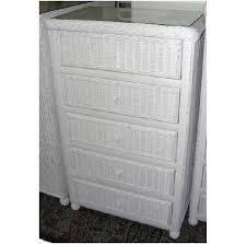 white wicker dresser. Plain White Hampton Bay 5 Drawer Wicker Chaest With White Dresser S