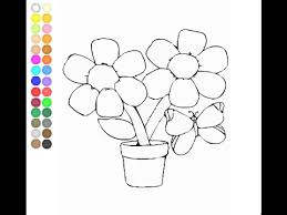 Small Picture Flower Pot Coloring Pages For Kids Flower Pot Coloring Pages