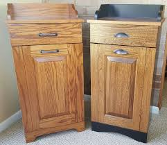 Tips Tilt Out Trash Bin Wood Can Holder Sliding Garbage