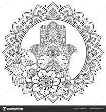 Kruhové Pole Formě Mandala Pro Henna Mehndi Tetování Zdobení